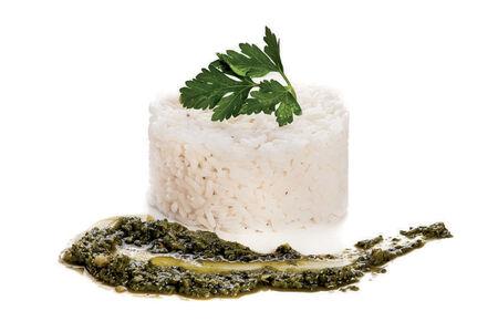 Рис с соусом Песто