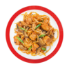 Фото к позиции меню Лапша Удон с курицей в кисло-сладком соусе