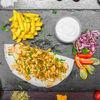Фото к позиции меню Куриная арабская шаурма на тарелке