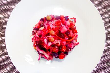 Салат Винегрет вегетарианский