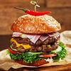 Фото к позиции меню Бургер Мясо есть