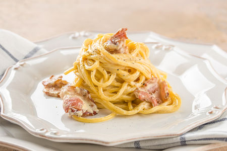 Спагетти Карбонара пикколо
