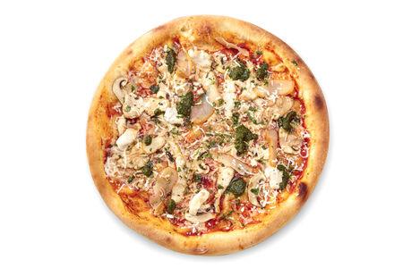 Пицца с цыпленком и соусом Чимичурри