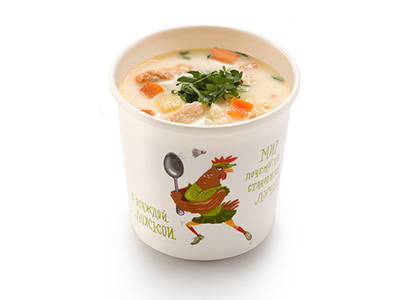 Сливочный рыбный суп с беконом