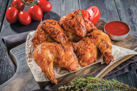 Цыпленок тапака на сковороде