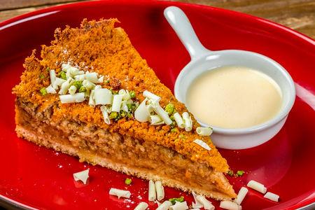 Ревеневый пирог с нежным ванильным кремом