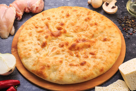 Осетинский пирог с грибами и курицей