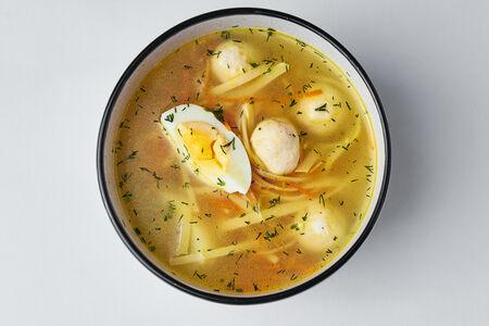 Суп Куриная лапша с фрикадельками