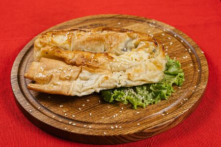 Пита с сыром и шпинатом