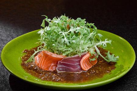 Салат из двух видов рыб