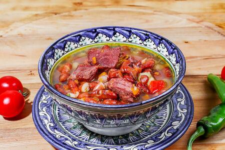 Суп с красной фасолью