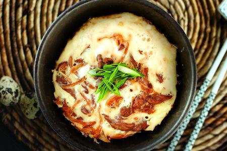 Японский омлет с курицей