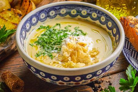 Картофельный суп со Страчателлой