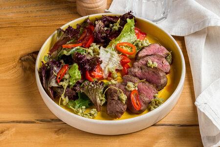 Салат с говядиной и джонджоли