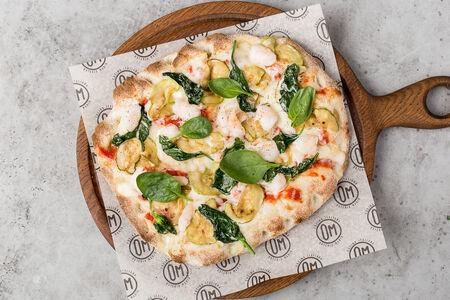 Римская пицца Креветки и цукини