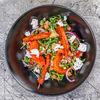 Фото к позиции меню Салат из печеной тыквы и моркови