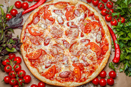 Пицца Пепперони Делюкс
