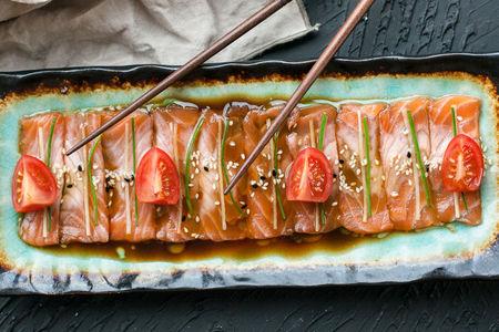 Карпаччо из лосося в стиле Эдоко