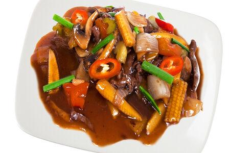 Жареная говядина в устричном соусе