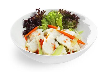 Салат с треской и сельдереем в тайском соусе