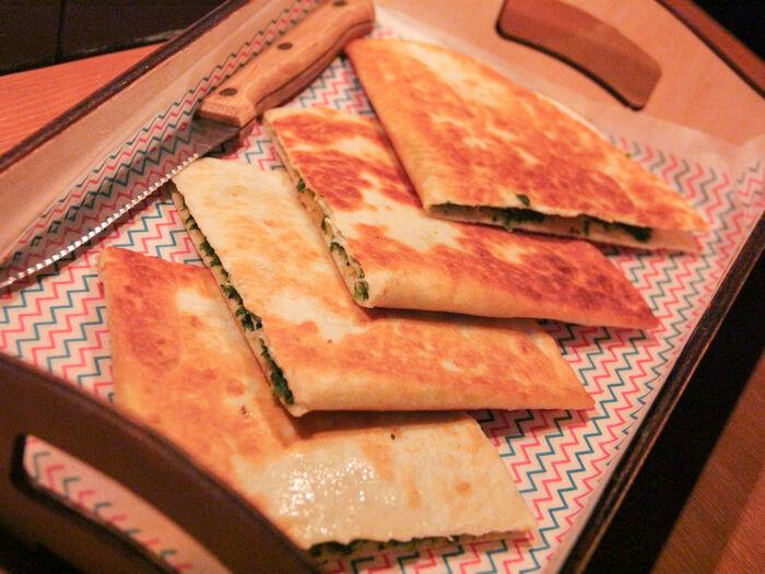 Бутерброд Мексика Кесадилья со шпинатом