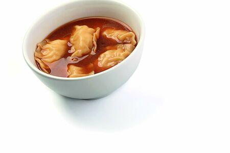 Гёдза с креветкой вареные в мисо-супе