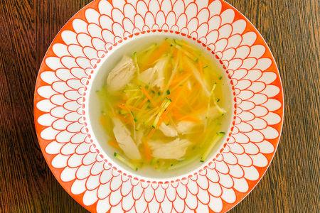 Куриный суп с домашней пастой