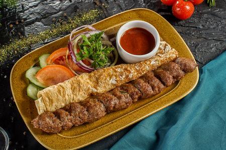 Люля-кебаб из говядины и свинины