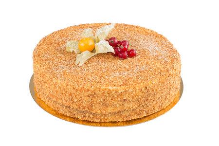 Порция торта Медовик