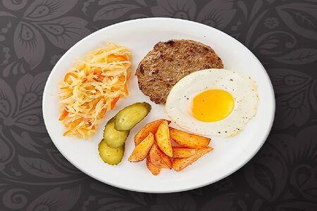 Мясной обед по-деревенски