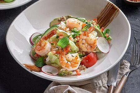Перуанский салат с креветками