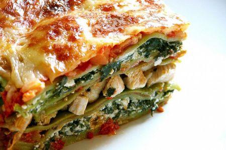 Ачма с сыром и шпинатом