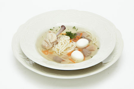 Курячiй супъ съ лапшою