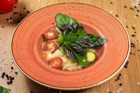 Итальянский суп Минестроне с красной чечевицей