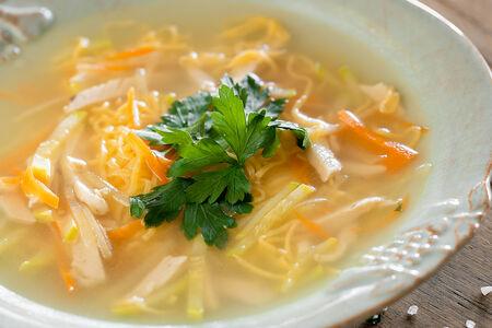 Суп куриная лапша с пастрами