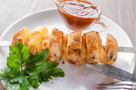 Картофель со свиным салом