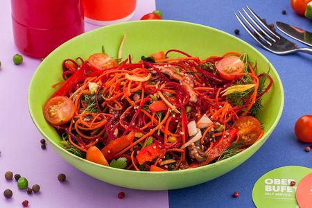 Салат овощной с грибами и киноа