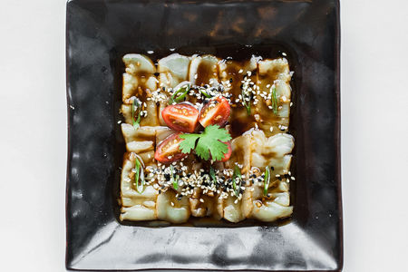 Карпаччо из гребешка в стиле Эдоко