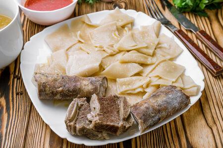 Хинкал тонкий с сушеным мясом