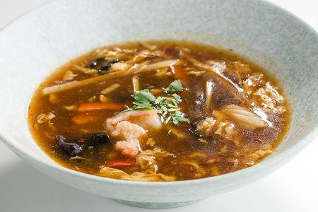 Суп кисло-острый с гребешком