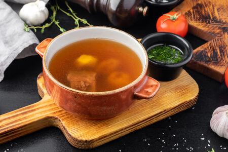 Суп из телячьей грудинки