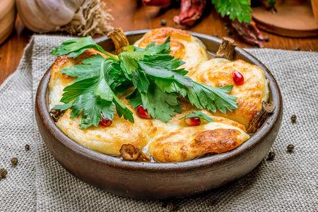 Грибы Шапочки с сыром