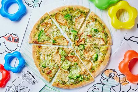 Пицца с соусом Песто, брокколи и куриным филе Донателло