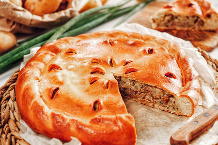 Русский пирог с картофелем