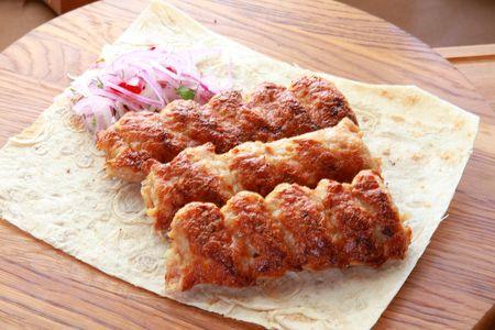 Шашлык люля-кебаб из курицы