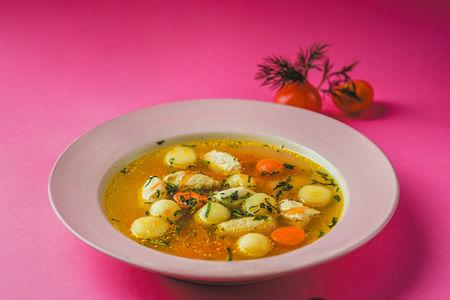 Суп кнели из индейки