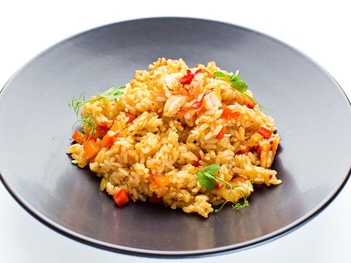 Рис с мясом камчатского краба