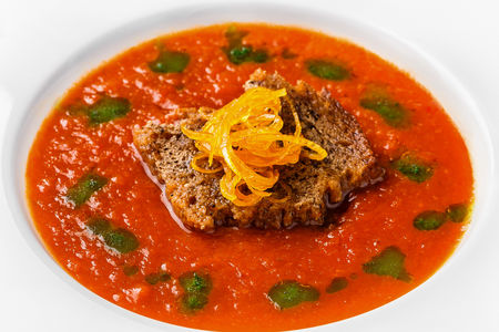Суп из копченых томатов