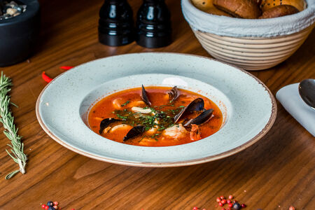 Суп Похмельный с морепродуктами