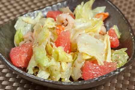 Салат Нацуно с креветками